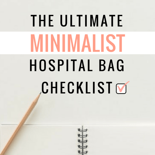 hospital bag checklist for pregnant women preparing to go into labor