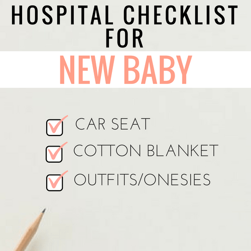 hospital bag checklist for new baby