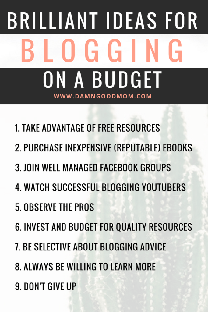 Learn how to blog on a budget with nine valuable tips