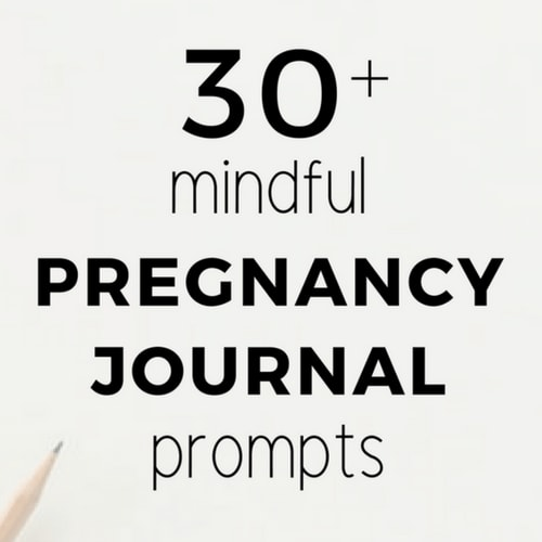 pregnancy journal prompts