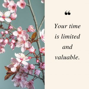 Quote: Your time is limited and valuable. Moms need self-care.