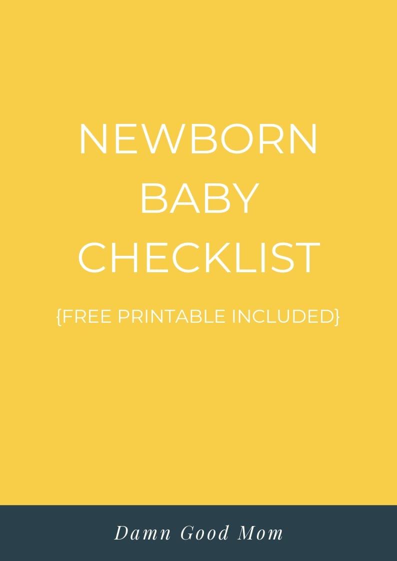 newborn baby essentials checklist
