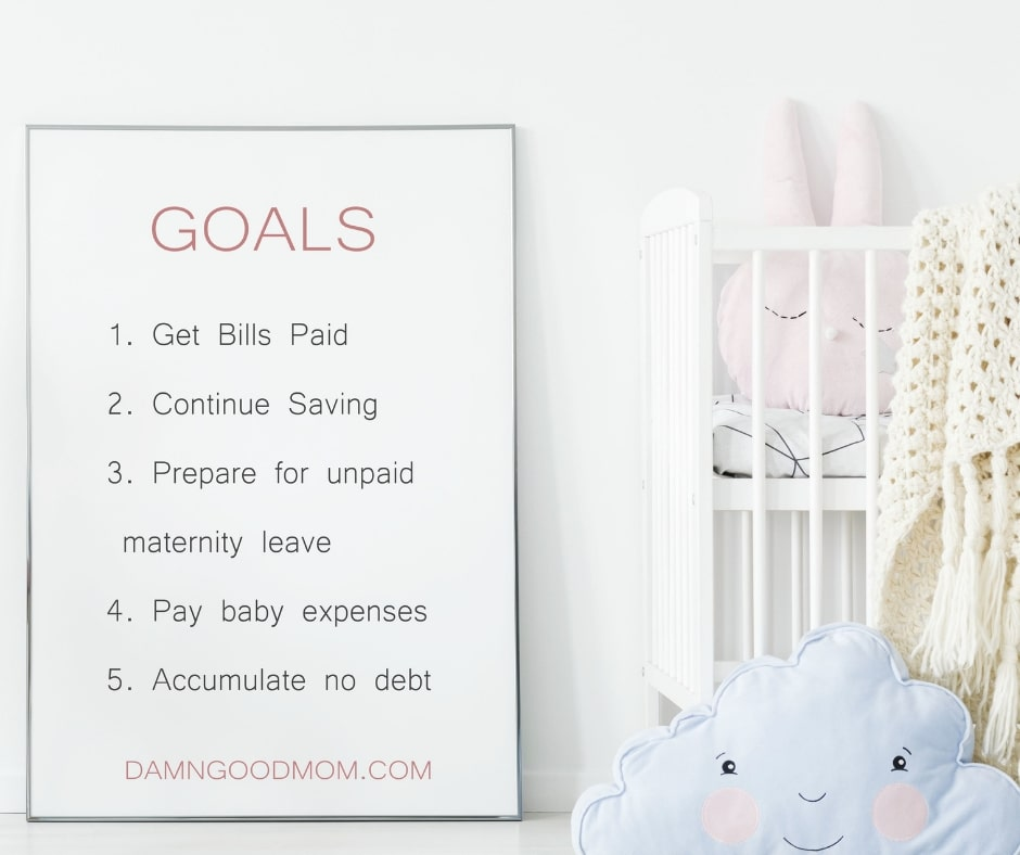 how to create a budget with pregnancy goals