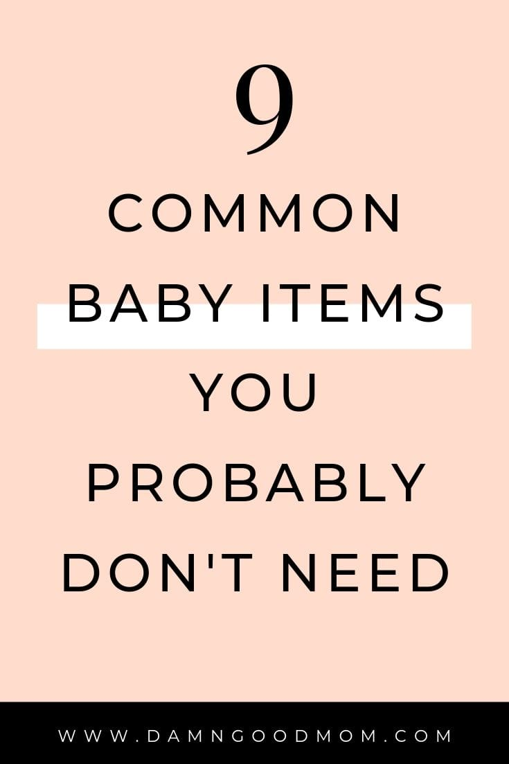 Baby items you don't need or can wait to buy
