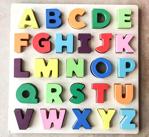 Ways to teach the alphabet abc puzzle