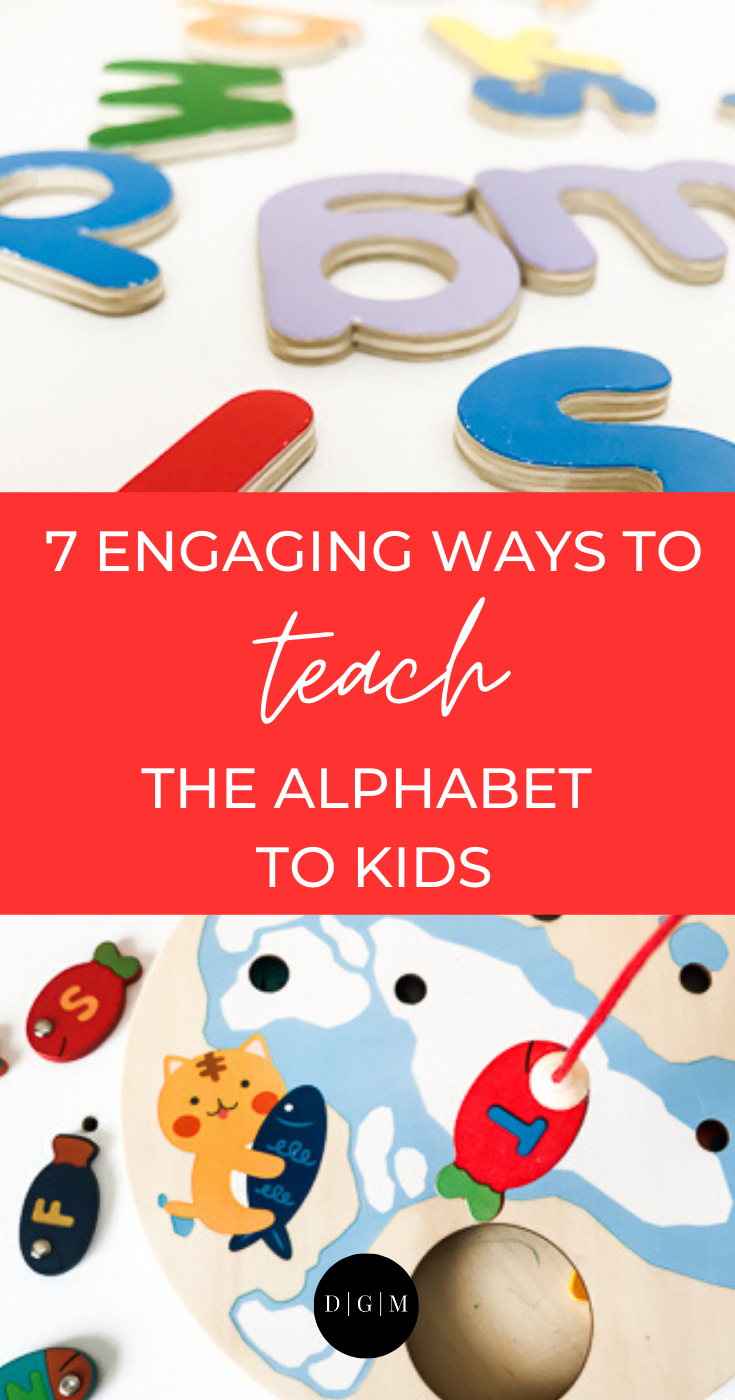 Helping kids learn the Alphabet pin