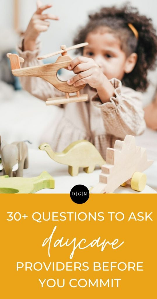 Questions to ask daycare providers