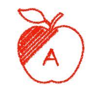alphabet coloring apple
