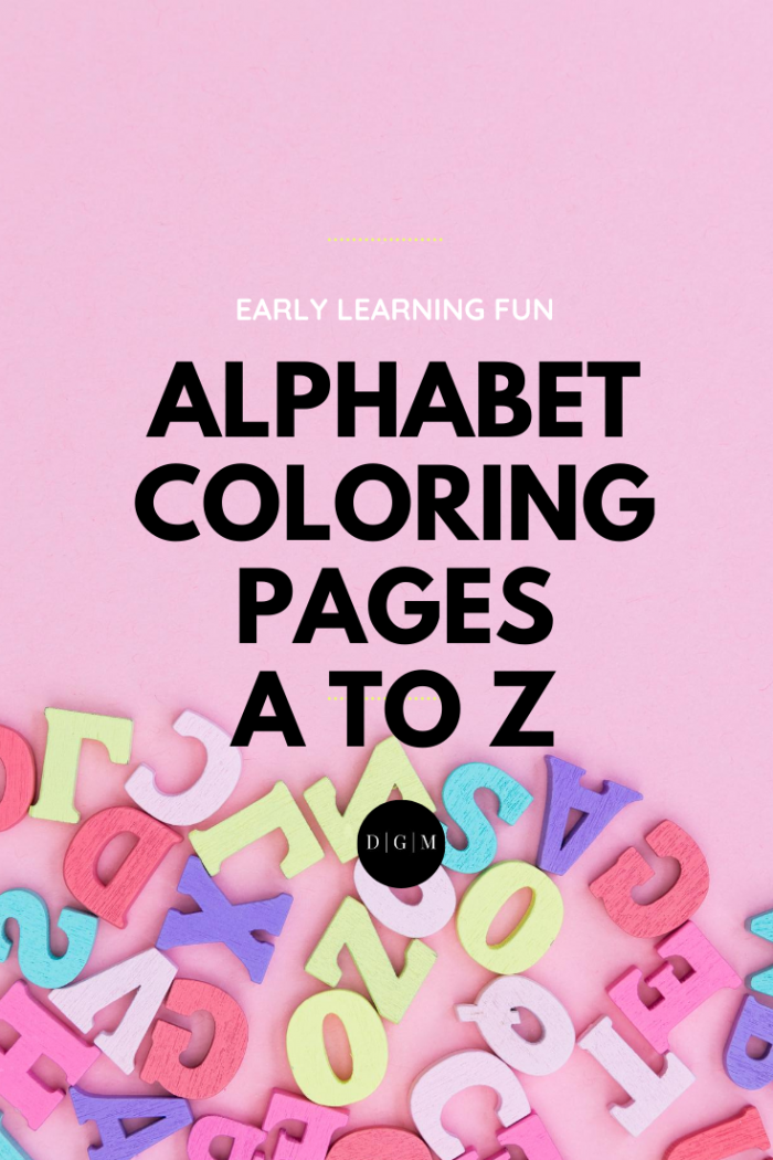 Minimal Design Alphabet Coloring Pages A to Z
