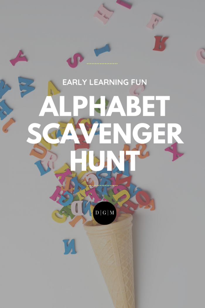 A FREE + Fun Alphabet Scavenger Hunt for Toddlers