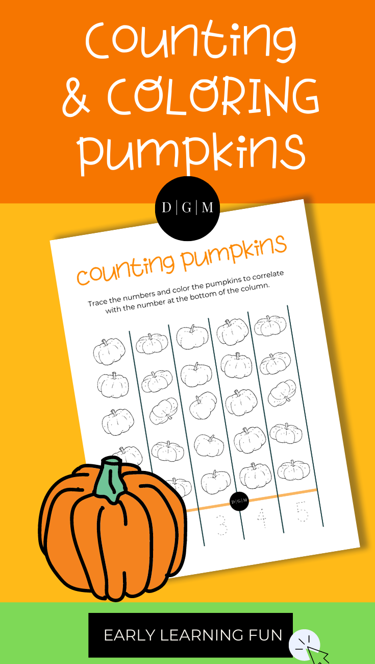 Counting + Coloring Pumpkins Printable