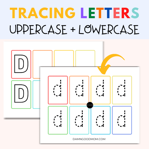uppercase and lowercase writing practice