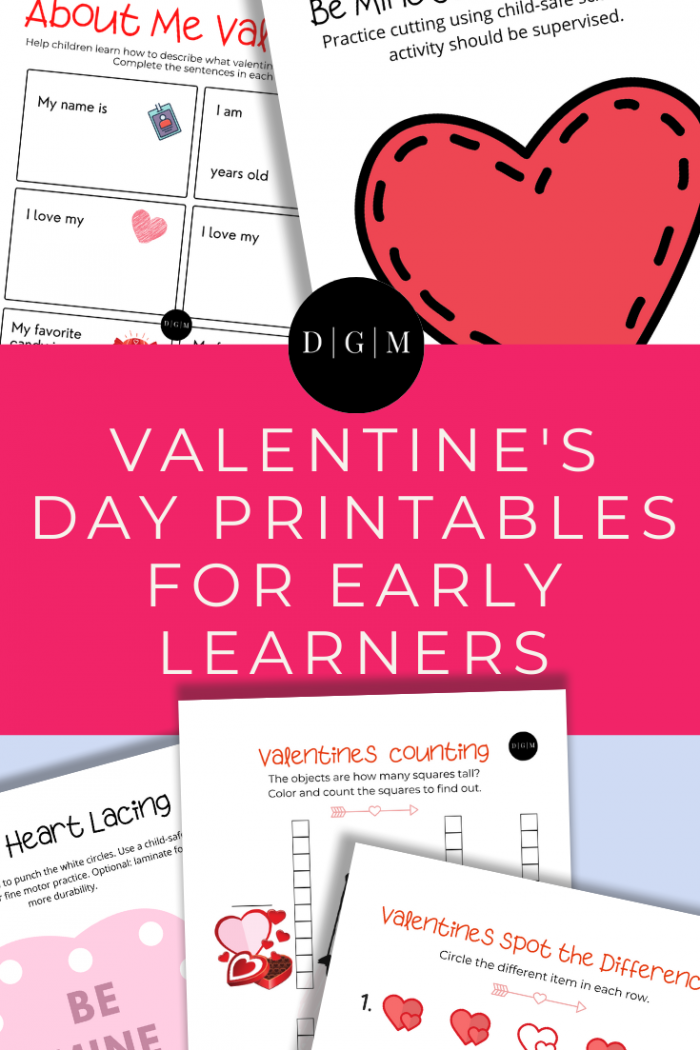 Valentine's Day Printables for Early Learners
