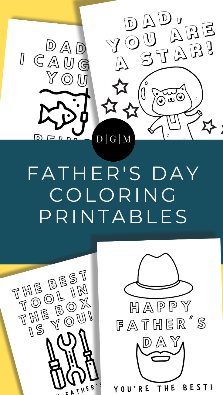 Free Father's Day Coloring Printable Pages