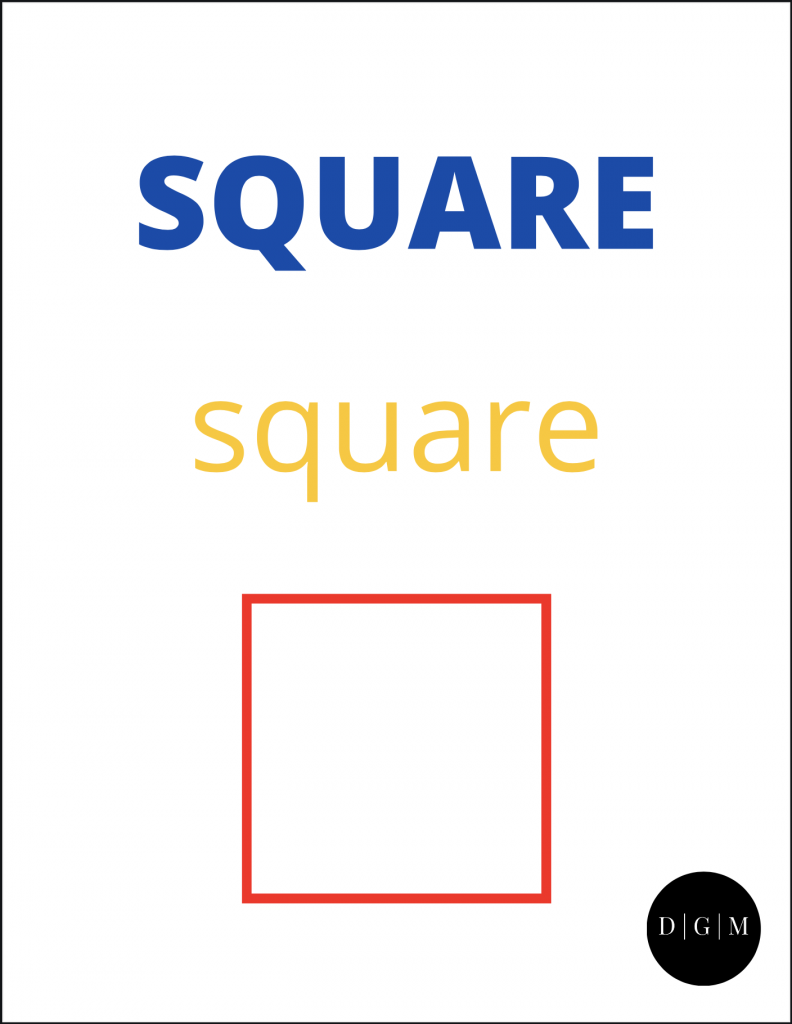 Helping Kids Learn Square Shape