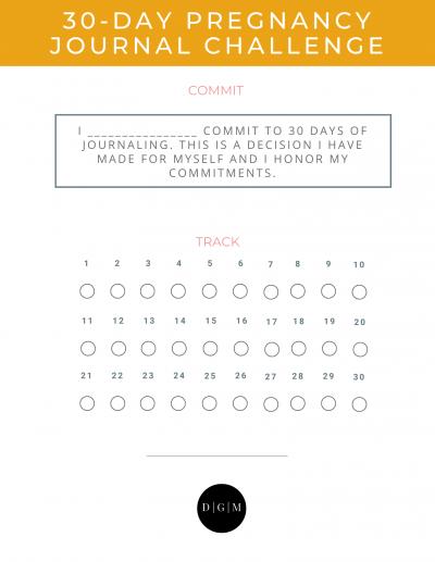 30-Day Pregnancy Journal Challenge