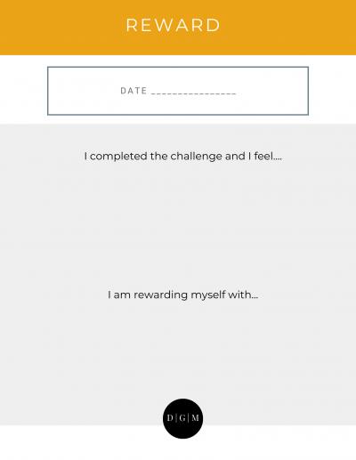 pregnancy journal reward page